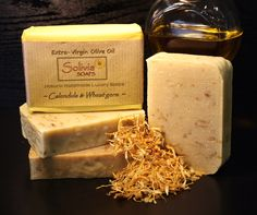 Our Calendula and Wheat germ soap