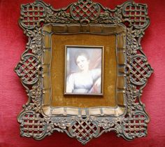 Gorgeous Portrait of a Girl by Millet - A Cameo Creation Framed by Something2SingAbout on Etsy