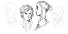 Random Stuff B&Ws by John Grello on ArtStation. Drawing Poses, Drawing Sketches, Art Drawings, Character Art, Character Design, Character Profile, Human Face Sketch, Comic Drawing, The Draw