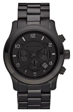 Michael Kors Black Runway Watch