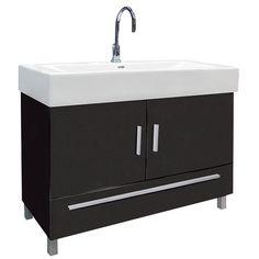 Meuble de salle de bains neo gris smoke n 1 leroy merlin leroy merlin pinterest ps - Dubbele wastafel leroy merlin ...