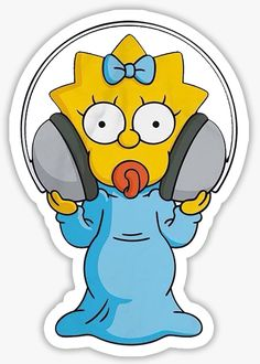 #missrussell Tumblr Stickers, Cool Stickers, Printable Stickers, Laptop Stickers, Simpsons Party, The Simpsons, Simpson Wallpaper Iphone, Bear Wallpaper, Simpsons Drawings