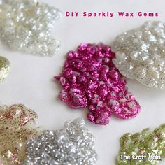 DIY Sparkly Wax Gems