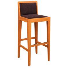 Sgabello Manhattan Morelato Sgabello in legno di ciliegio con seduta e schienali imbottiti in pelle o tessuto. Su richiesta listello poggiapiedi in acciaio. Finitura: FL60 Design Centro Ricerche MAAM Misure: L 40 P 37 H 93