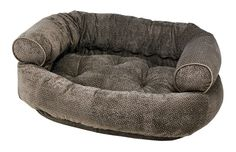 Bowsers Pewter Bones Microvelvet Double Donut Dog Bed