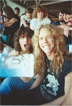 James Hetfield w/His Family -- Their daughter on the far ...