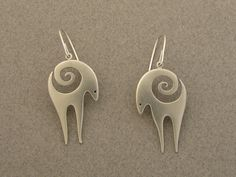 Ahlene Welsh, antelope earrings, 2012; sterling silver