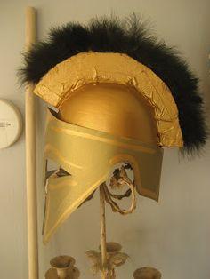 DIY spartan helmet