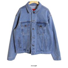 Denim Washed Jacket ($88) ❤ liked on Polyvore