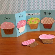 Love this Mother's Day Card. I would have the kids write some sweet words in the cupcakes.