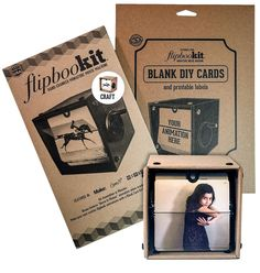 Our lowest cost FlipBooKit with a Blank Card Kit to make your own FlipBooKit Scene. Unfinished crepe-colored outer box can be painted and customized or left as-is. … Continue reading →