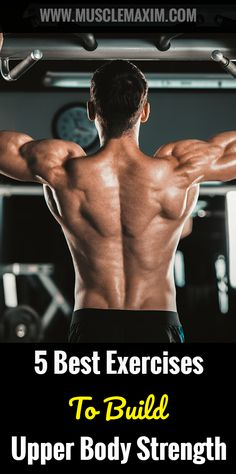 5 Best Exercises To Build Upper Body Strength Elyptical Workout, Calisthenics Workout, Ripped Workout, Workout Ideas, Fitness Tips, Fitness Motivation, Daily Motivation, Crosstrainer Workout, Strength Training For Beginners