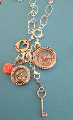 Origami Owl, locket, love, gold, window plate, dangle, heart, key.  www.melishialopes.origamiowl.com