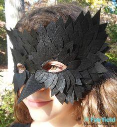 Crafty Lady Abby: COSTUME DIY: OlyFun Black Bird Mask