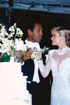 O.J Simpson & Nicole Brown February 2, 1985 1980s Wedding, Oj Simpson, Made In America, Espn, Social Justice, Celebrity Weddings, Vanity Fair, Good Movies, Filmmaking