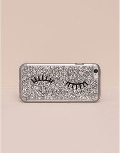 SILVER GLITTER SMARTPHONE CASE - MOBILE PHONE COVER - WOMAN - PULL&BEAR Croatia