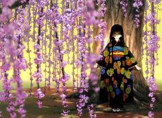 L'image, Sakura, jeune fille de kimono
