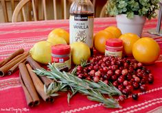 Christmas & William Sonoma simmering potpourri