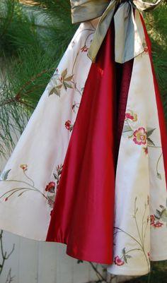 Red Silk and Satin Christmas Tree Skirt