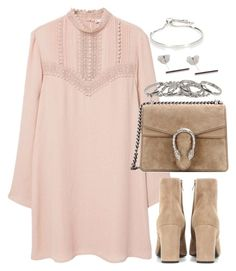 """""""Untitled #3628"""" by theeuropeancloset on Polyvore featuring MANGO, Yves Saint Laurent, Gucci and Monica Vinader"""
