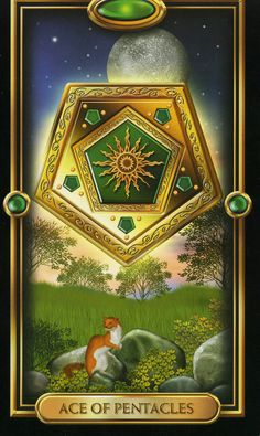 Gilded tarot deck by Ciro Marchetti: Ace of Pentacles