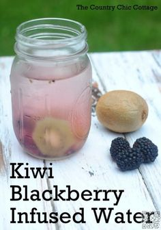 20. Kiwi #Blackberry Water - 43 Recipes for Water for #Making Hydration #Tasty ... → Food #Water