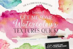Give Me Watercolour Textures Quick! by Nicky Laatz on @creativemarket