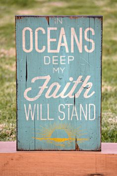 In Oceans Deep My Faith Will Stand  Vintage by DollickDesigns, $30.99