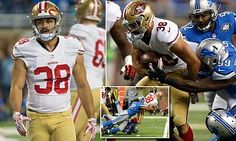 Jarryd Hayne has had a powerful start at running back against the Detroit Lions on Monday, with his first two carries earning 15 yards and helping the San Francisco 49ers to an early touchdown.