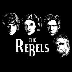 \'The Rebels\', StR Wars Poster Art, date cuenta que los rebeldes son lo que siempre quiere paz y justicia. illustration available thru the NeatoShop.