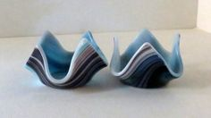 Home Decor Fused Glass Tealight Holders Statteam by Smokeylady54