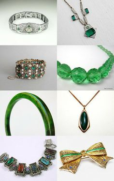 Emerald Art Deco--Pinned with TreasuryPin.com