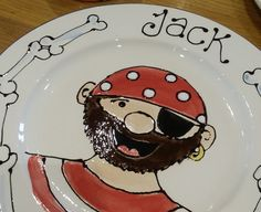 Childs pirate plate