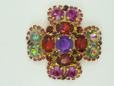 2338b080040 Vintage Runway Haute Couture Pierre Balmain Paris Jeweled Maltese Cross  Brooch A | eBay Balmain Paris