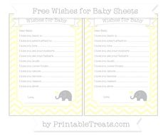 Cream Chevron  Baby Elephant Wishes for Baby Sheets