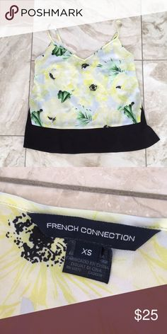 Floral French connection blouse Super cute! Worn twice, great condition! French Connection Tops