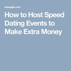 Speed dating host