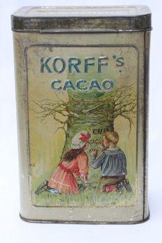 Korff cacao tin c1925