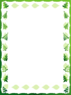 this free printable winter holiday border features green christmas trees free to download
