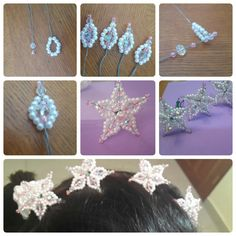 See 128 photos and 14 tips from 1359 visitors to Chitré. Wire Crafts, Bead Crafts, Jewelry Crafts, French Beaded Flowers, Wire Flowers, Beading Tutorials, Beading Patterns, Hair Jewelry, Beaded Jewelry