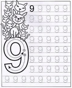 New System-Suitable Numbers Line Study - Preschool Children Akctivitiys Preschool Writing, Numbers Preschool, Learning Numbers, Preschool Curriculum, Math Numbers, Preschool Printables, Preschool Lessons, Kindergarten Worksheets, Preschool Activities