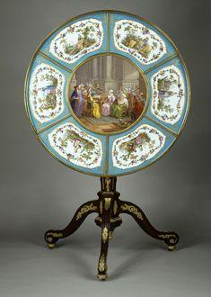 CARLIN - Table - Mme du Barry, Louveciennes - 1774 - plaques de porcelaine de Sèvres - Louvre (NEOCLASSIQUE)
