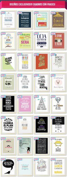 Cuadros riginales Modernos Personalizados Frases