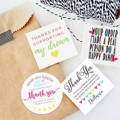 Packaging stickers - The Gratitude Bundle 48 stickers Small Shop Packaging Stickers – Packaging stickers Packaging Stickers, Cute Packaging, Packaging Ideas, Craft Packaging, Product Packaging, Packaging Design, Business Thank You Cards, Etsy Business Cards, Bussiness Card