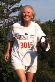 Margaret Hagerty, Guiness Record Holder,  ran Miles of Mooresville this weekend - She's an amazing 89 year old marathoner - 6 miles probably was just a drop in the bucket to her!