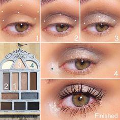 Today's look using the Nightingale Smokey Eyeshadow Palette Hide & Seek- transition shade Darkside- crease Smokey Eyeshadow Palette, Makeup Tips Eyeshadow, Eyeshadow Looks, Makeup Kit, Makeup Eye Looks, Beautiful Eye Makeup, Natural Eye Makeup, Kiss Makeup, Glam Makeup
