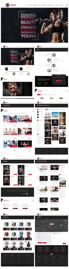 Veda comes with a powerful #fitness demo that suits well for the gym, wellness, sports and fitness centers. #theme #wordpress