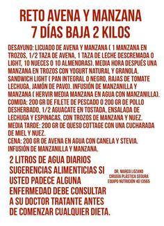 Dieta de la manzana & avena. Dr. Marco Lozano