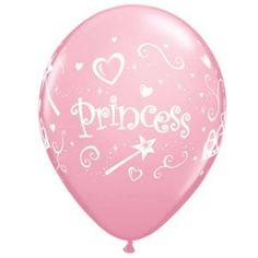 balão personalizado com tema Princesa para festa infantil