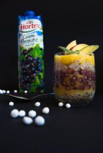 Porzeczkowy deser z tapioki z musem z mango | PODWÓJNA PORCJA